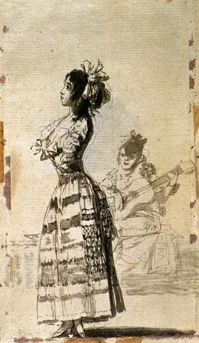 goya, duo de jeune femme et guitariste